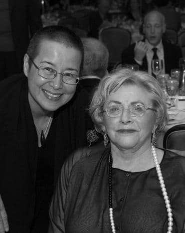 Shirley and her teacher, Roshi Wendy Egyoku Nakao, Abbot and Head Teacher of Zen Center of Los Angeles.