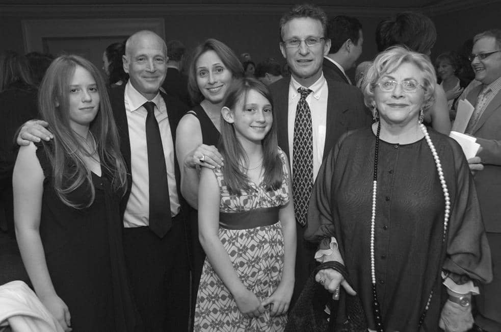 Shirley with children and grandchildren at PSR-LA's 2007 Gala Dinner.