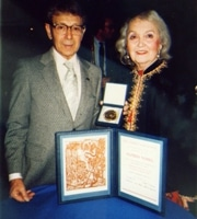 PSR-LA member, Dr. Sam Sperling and Bea Sperling at the 1985 Nobel Ceremony in Oslo.